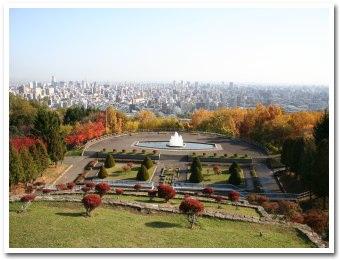 旭山公園から眺めた札幌